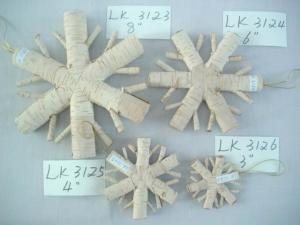 China 2018 new Christmas tree ornaments and decoration,birch bark handmade artificial snow flower on sale