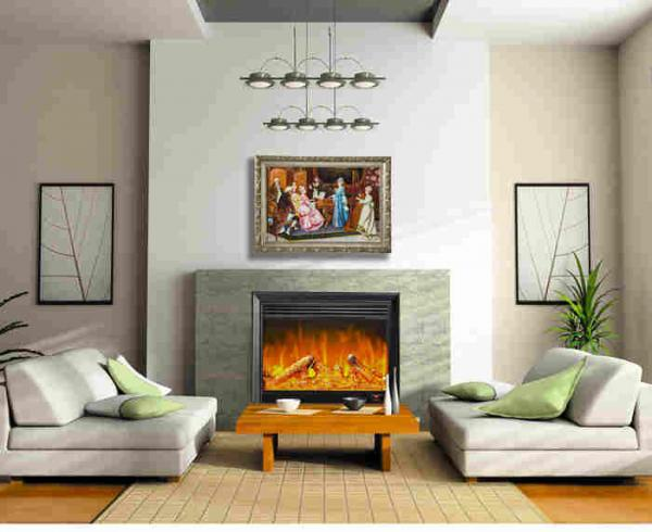 Home Bedroom Decoration Plug In Wall Fireplace Heater With Remote / Led  Light Images
