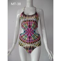 Beautiful pattern swimwear for women, hot sale naked back swimwear