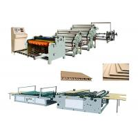 China Single Face Corrugated Carton Box Making Machine Low Electric Consumption on sale