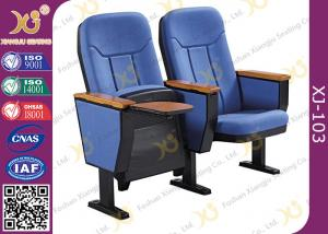China Foldable Plastic Auditorium Chairs with Writing board / conference hall seating on sale
