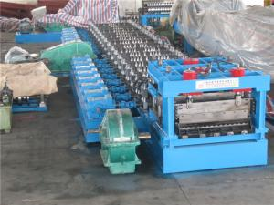 China 110KW 3 - 6mm thickness Silo Roll Forming Machinery Transmission Table on sale