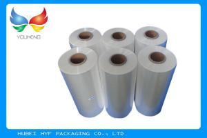 China Blown Transparent PVC Heat Shrink Sleeve Film Rolls For Glass Bottle Labels on sale