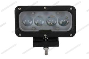 China 40w 4D Lens LED Spot Work Light , 6000K Jeep Boat SUV LED Vehicle Work Light on sale