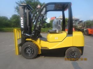 China EPA Approval Engine Gasoline Forklift Truck , 2.5 Ton Lpg Forklift Yellow Color on sale