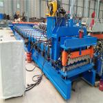 China Auto control control system glazed metal roof tile manufacturing forming machine wholesale
