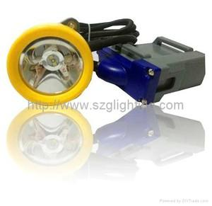 China ATEX+CE: 25000lux,12.4Ah,348lumen,1.8W,IP68 LED Corded Miner Lamp / Mining Cap Lamp / LED Cap Lamp Supplier on sale