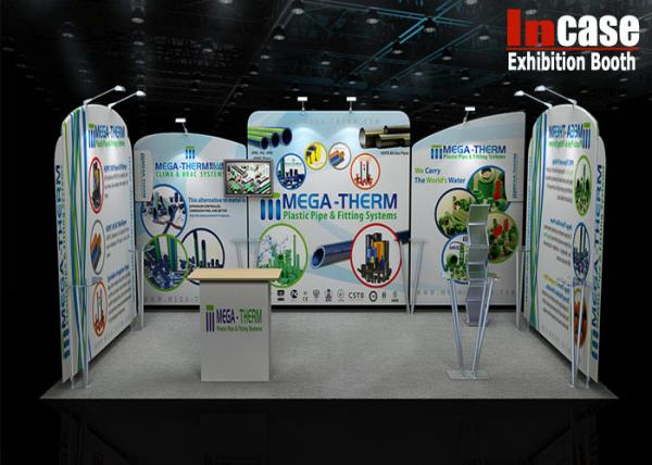 Exhibition Booth Backdrop : Recycled portable exhibition stand tension fabric graphic backdrop