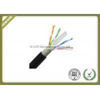 China Outdoor Cat6 UTP Network Fiber Cable 0.56mm Copper Double Jacket 1000ft 23AWG on sale