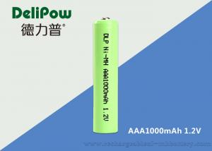 China 1000mAh Small Ni Mh Rechargeable Battery 1.2 V AAA OEM Acceptable on sale