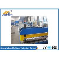 China Blue Roofing Corrugated Sheet Roll Forming Machine , Corrugated Roller Machine on sale