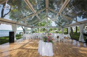 China Pretty Transparent Cover Outdoor Wedding Marquee Solid Anodized Aluminum Profile on sale