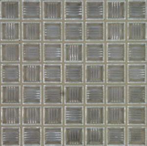 China Transparent Glass Mosaic Tiles , Bathroom Border Tiles For Luxury Villas on sale