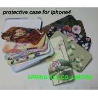Caisse colorée de téléphone portable pour iphone4 /4s, faite de PC en plastique
