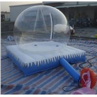 Air-constant Inflatable Bubble Tent , Inflatable Clear Bubble Tent With Mattress