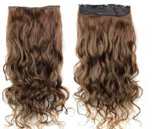 China 18 Inch Long Virgin Clip In Hair Extensions / Smooth Virgin Remy Hair Clip Ins on sale