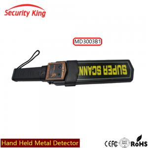 China Economy Portable Metal Detector Hand Wand , Hand Held Detector For Body Checking on sale