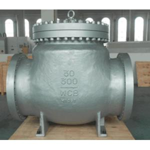 China Carbon Steel BW WCB Swing Check Valve Hardfaced With 13 CR RF , Precision Machined Castings on sale