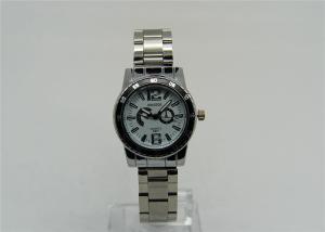 China Reloj de la correa del metal de la correa del acero inoxidable con el bisel y el disco de la falsificación on sale