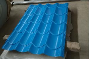 China Building Corrugated Steel Roofing Sheets / Corrugated Sheet Metal Panels Color Customized on sale