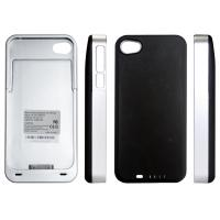 5V/500mA Silver / Black IPhone 4 Extended Battery Case For IPhone 4S (IP24F)