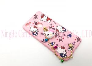 China Cute Hello Kitty Phone Cases For Smartphones With Candy Bell & Soft Tpu Cover on sale