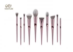 China Soft Touch Electroplating 18.8CM 10 Piece Brush Set on sale
