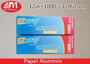 China Premium Catering Aluminium Foil Roll 12In X 12 Micron X 1000Ft With Cutting Edge on sale