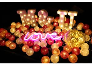 China Package LOVE Proposed gift Multi-color Ball Rope Light, Holiday Festival  Garden Wedding Decoration, Ideal Festival Gift on sale