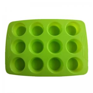 China FDA&LFGB silicone color muffin cake bakeware on sale