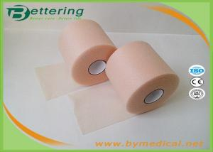 China Skin Colour 7cmX27m Sports Underwrap Foam Tape Polyester Fiber Elastic Adhesive Muscle Strain Injury Roll Bandage on sale
