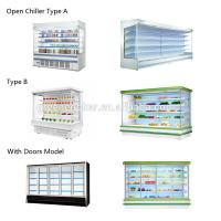 China Streamline Design Multideck Open Display Cabinet Refrigerator With LED Light on sale