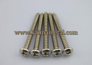 China Pan head tapping screws, material of stainless steel, carbon steel on sale