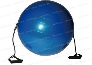 China Balance Training Pilates Gym Ball 65cm With Resistance Tube Strength Improve on sale