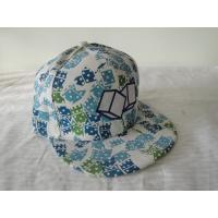 China Overall Printing Hats Hip Hop Caps With Flat Peak , Adjustable Velcro on sale