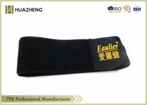 China Black Stretch Straps For Medical Orthotic , Strong Hook and Loop Tape on sale