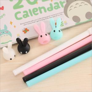 China Flexible with different cute animal rubber ballpoint pen from china factory on sale