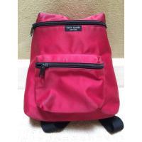 Kate Spade Red & Black Nylon Zippered Backpack youngstown backpack  yoke backpack  zipper backpack  zion backpack  zippe