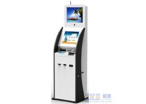 China 17 Inch Cold Rolled Steel Digital Kiosk Display With ID Scanner Card Issue Modules on sale