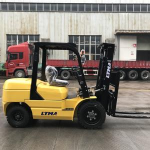 China Yellow LTMA Counterbalance Forklift Truck , 3.5 Ton Environmental Industrial Lift Truck on sale