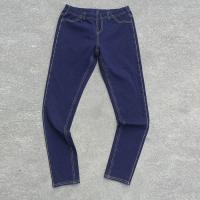 China ladie's legging,knit denim pants with elastic waistband,jeans factory on sale