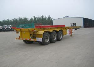 China Skeleton Flatbed Cargo Trailer 12R22.5 For Transporting Steel / Timber on sale