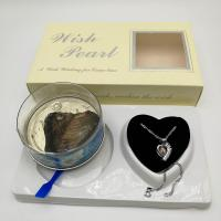Wish Love Pearl Necklace Gift Set with Cage Pendant & Canned Freshwater Pearl DIY Fashion Jewelry