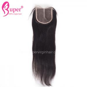China Straight Malaysian Virgin Hair Closures 4x4 Swiss Lace Closure Middle Part on sale