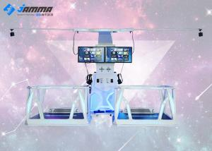 China RGB LED 220V VR Standing Platform Two Player Large Space 3.8 X 2.1 X 2.6 M on sale
