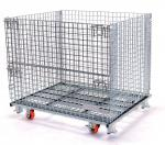 Stacking Wire Mesh Pallet Containers Stainless Steel Collapsible Wire Basket