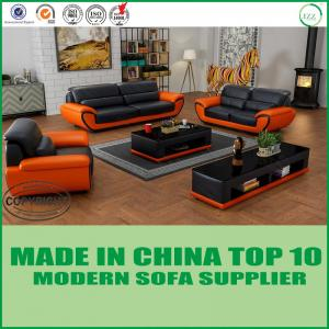 China White Color Modern Living Room Furniture Wooden Miami Leather Sofa Set 1+2+3 on sale
