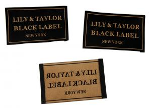 China 50D Polyester Yarns Clothing Woven Labels custom color size For Clothes / Gifts on sale
