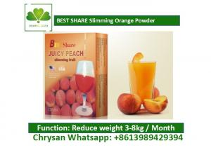 Quality Peach Powder Leisure Slimming Juice , Fat Burning Fruit Juice For Weight Loss for sale
