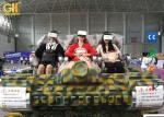 Camouflage 6 Seater Electric VR Tank Simulator / 9D Adventure Extreme Cinemas